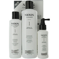 Nioxin 3 Piece Maintenance Kit System 1 With Cleanser 10.1 oz & Scalp Therapy 5.7 oz & Scalp Treatment 3.38 oz for unisex by Nioxin