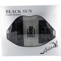 Black Sun Eau De Toilette Spray 3.4 oz & Aftershave Spray 1.7 oz & Eau De Toilette .17 oz Mini for men by Salvador Dali