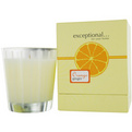 Orange Ginger - Limited Edition Orange Ginger Scented 8.8 oz Tapered Glass Jar Candle. for unisex by Exceptional Parfums