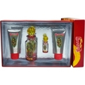 Ed Hardy Villain Eau De Parfum Spray 4.2 oz & Shimmer Body Lotion 3 oz & Body Wash 3 oz & Eau De Parfum Spray .25 oz for women by Christian Audigier