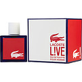 Lacoste Live Eau De Toilette Spray 3.4 oz for men by Lacoste