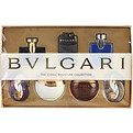 Bvlgari Omnia Mini Variety 7 Pieces With Omnia Amethyste Eau De Toilette & Jasmine Noir Eau De Parfum & Aqua Divina Eau De Toilette & Man In Black Eau De Parfum & Aqua Amara Eau De Toilette & Blv Pour Homme Eau De Toilette & Omnia Crystalline Eau De Toilette And All Are .17 oz Minis for unisex by Bvlgari